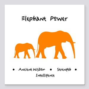 "Elephant Totem Power Gifts Square Car Magnet 3"" x"