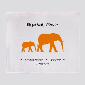 Elephant Totem Power Gifts Throw Blanket