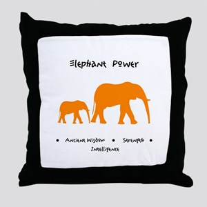 Elephant Totem Power Gifts Throw Pillow