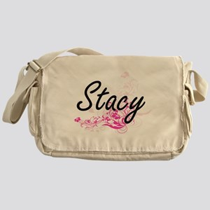 Stacy Artistic Name Design with Flow Messenger Bag