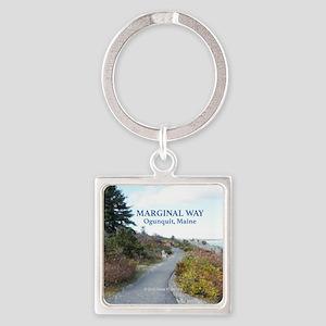 Ogunquit Marginal Way walkway Square Keychain