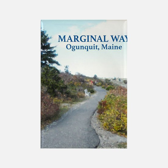 Ogunquit Marginal Way walkway Rectangle Magnet