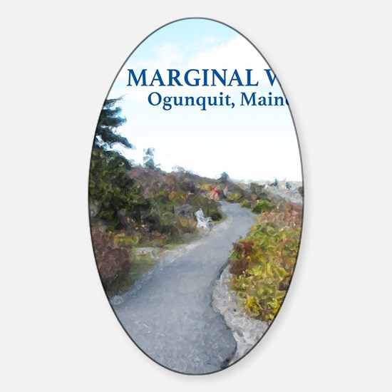 Ogunquit Marginal Way walkway Sticker (Oval)