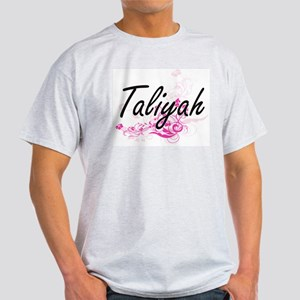 Taliyah Artistic Name Design with Flowers T-Shirt