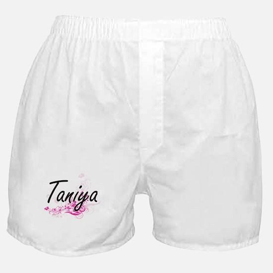 Taniya Artistic Name Design with Flow Boxer Shorts