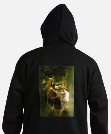 Nymphs and Satyr by Bouguereau Hoodie (dark)