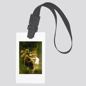 Nymphs and Satyr by Bouguereau Large Luggage Tag