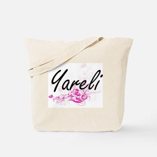 Yareli Artistic Name Design with Flowers Tote Bag