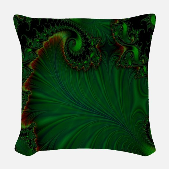 Fern Vert Woven Throw Pillow