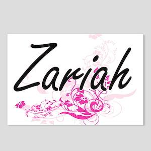 Zariah Artistic Name Desi Postcards (Package of 8)