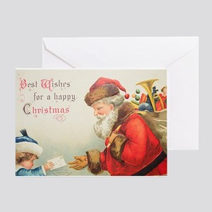 Vintage Christmas Card - A Happy 2 Greeting Cards