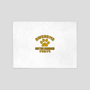 Awesome Scottish Deerhound Mom Dog 5'x7'Area Rug