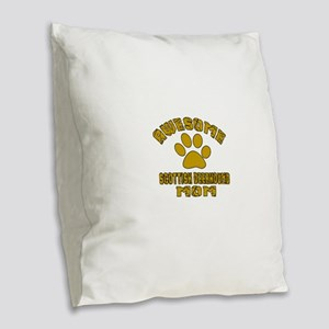 Awesome Scottish Deerhound Mom Burlap Throw Pillow