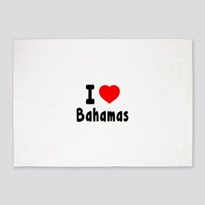 I Love Bahamas 5'x7'Area Rug