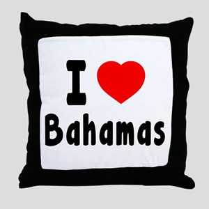 I Love Bahamas Throw Pillow