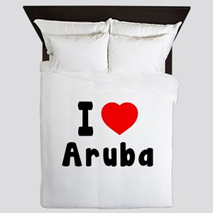 I Love Aruba Queen Duvet