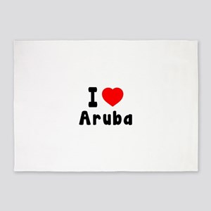 I Love Aruba 5'x7'Area Rug