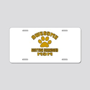 Awesome Scottish Deerhound Aluminum License Plate