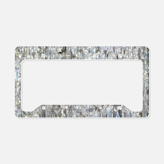 Cute Crystal License Plate Holder