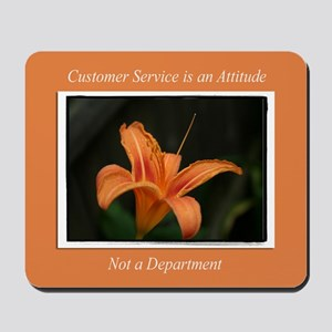 Customer Service Orange Lily Mousepad