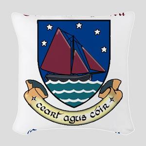 Conmaicne Mara - County Galway Woven Throw Pillow