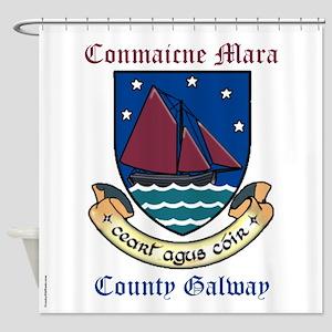 Conmaicne Mara - County Galway Shower Curtain