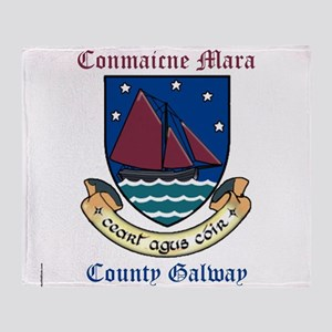 Conmaicne Mara - County Galway Throw Blanket