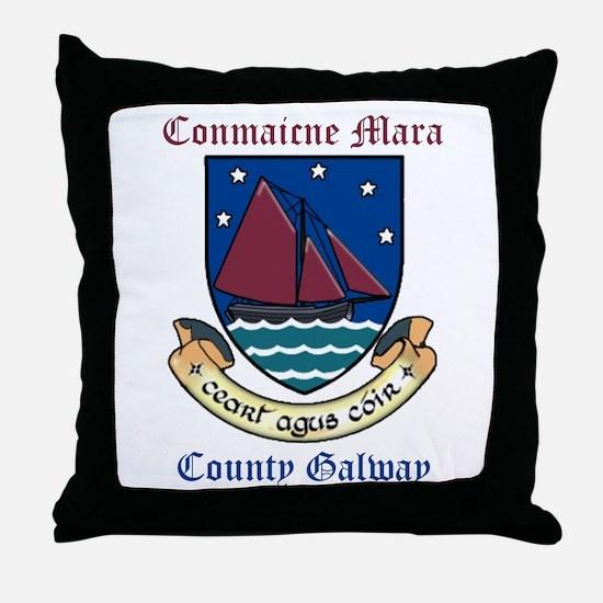 Conmaicne Mara - County Galway Throw Pillow