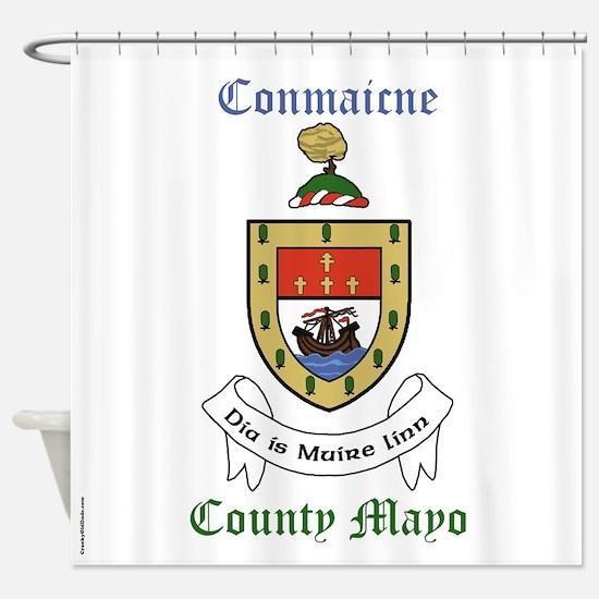 Conmaicne - County Mayo Shower Curtain