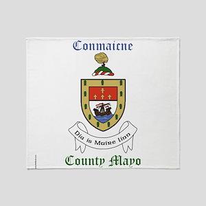 Conmaicne - County Mayo Throw Blanket