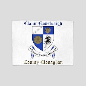 Clann Nadsluaigh - County Monaghan 5'x7'Area Rug