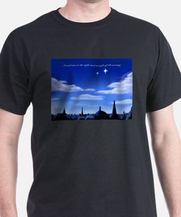 Second star to the right and straight on t T-Shirt