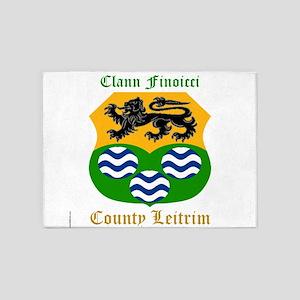 Clann Finoicci - County Leitrim 5'x7'Area Rug