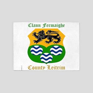 Clann Fermaighe - County Leitrim 5'x7'Area Rug