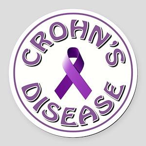 CROHN'S DISEASE Round Car Magnet