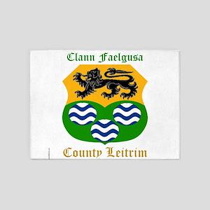 Clann Faelgusa - County Leitrim 5'x7'Area Rug