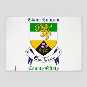 Clann Colgcan - County Offaly 5'x7'Area Rug