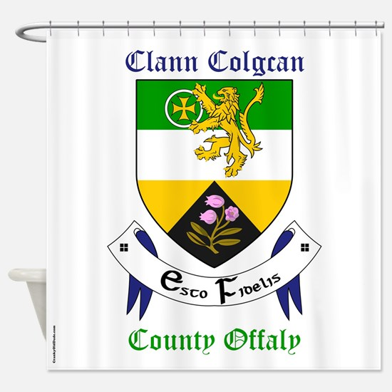 Clann Colgcan - County Offaly Shower Curtain