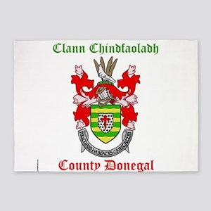 Clann Chindfaoladh - County Donegal 5'x7'Area Rug