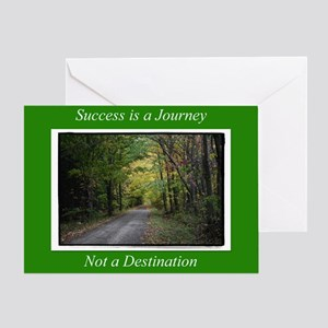 Success Is a Journey Greeting Card