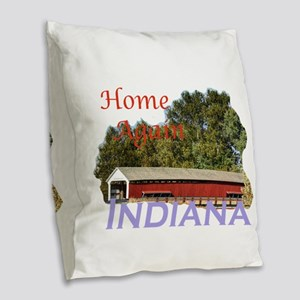 Home Again Indiana Burlap Throw Pillow