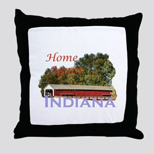 Home Again Indiana Throw Pillow