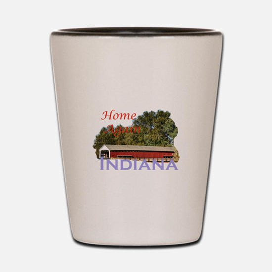 Home Again Indiana Shot Glass