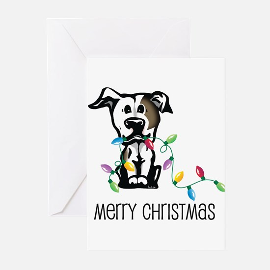 Unique Pit bull christmas Greeting Cards (Pk of 20)