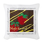 """Neofa""&Summer Berries Woven Throw Pillow"