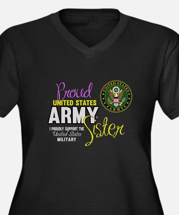 Proud Army Sister Seal Plus Size T-Shirt