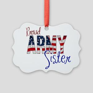 Proud Patriotic Army Sister Ornament