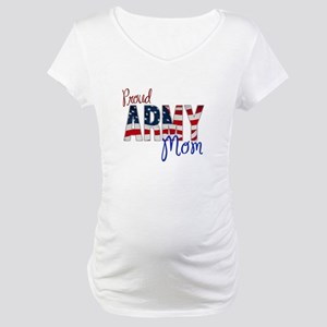 Proud Patriotic Army Mom Maternity T-Shirt