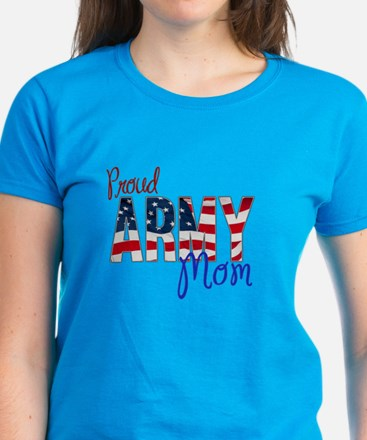 Proud Patriotic Army Mom T-Shirt