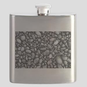 Shiny black pebbles pattern Flask
